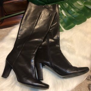 bandolino • brown leather boots sz 8.5